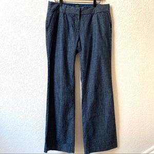J Crew City Fit Denim Trouser Size 10R